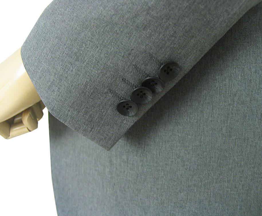 春夏秋 ジャケット ミディアムグレー 2つボタン THEO DORE 【防シワ加工】【ストレッチ】【超軽量】 メンズ ブレザー 2215  A4 A5 A6 AB4 AB8 BB5