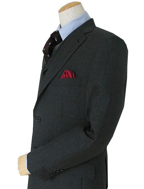 キングサイズ 春夏秋 スリーピース グレンチェック チャコールグレー 英国調 3つボタン 【大きいサイズ】【ウール100%】【ベスト抜き可】 メンズ スーツ THEO DORE 6918 E6
