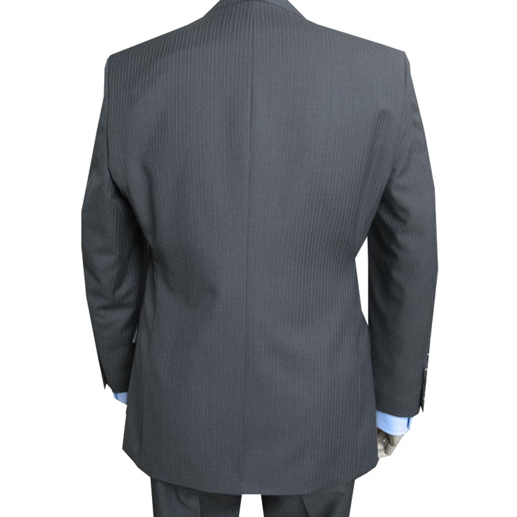 秋冬春 スーツ ミディアムグレー ストライプ 2つボタン 【高級素材】【ウール100%】  PretaPorter(プレタポルテ)3452 AB4