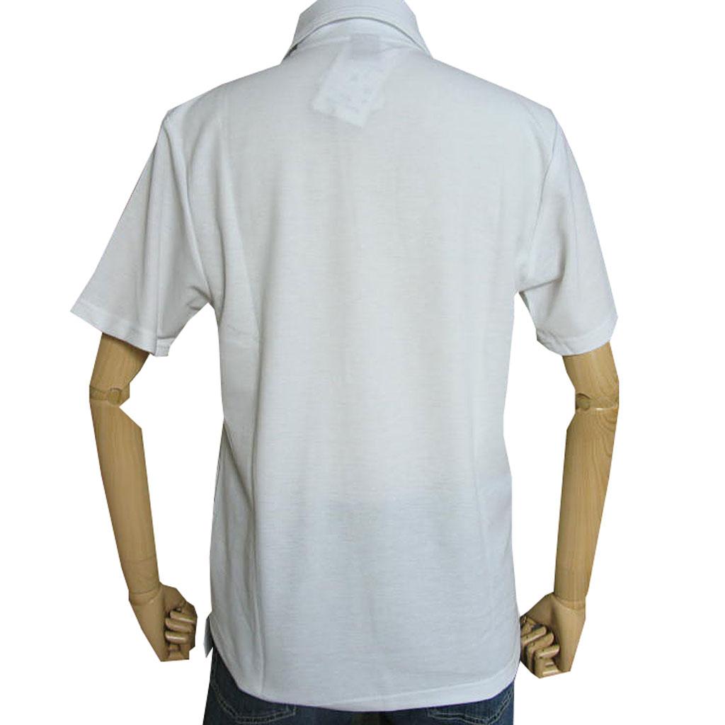COWBELLMATEの半袖 鹿の子織り ポロシャツ 白無地 6001 S M L LL 3L 4L