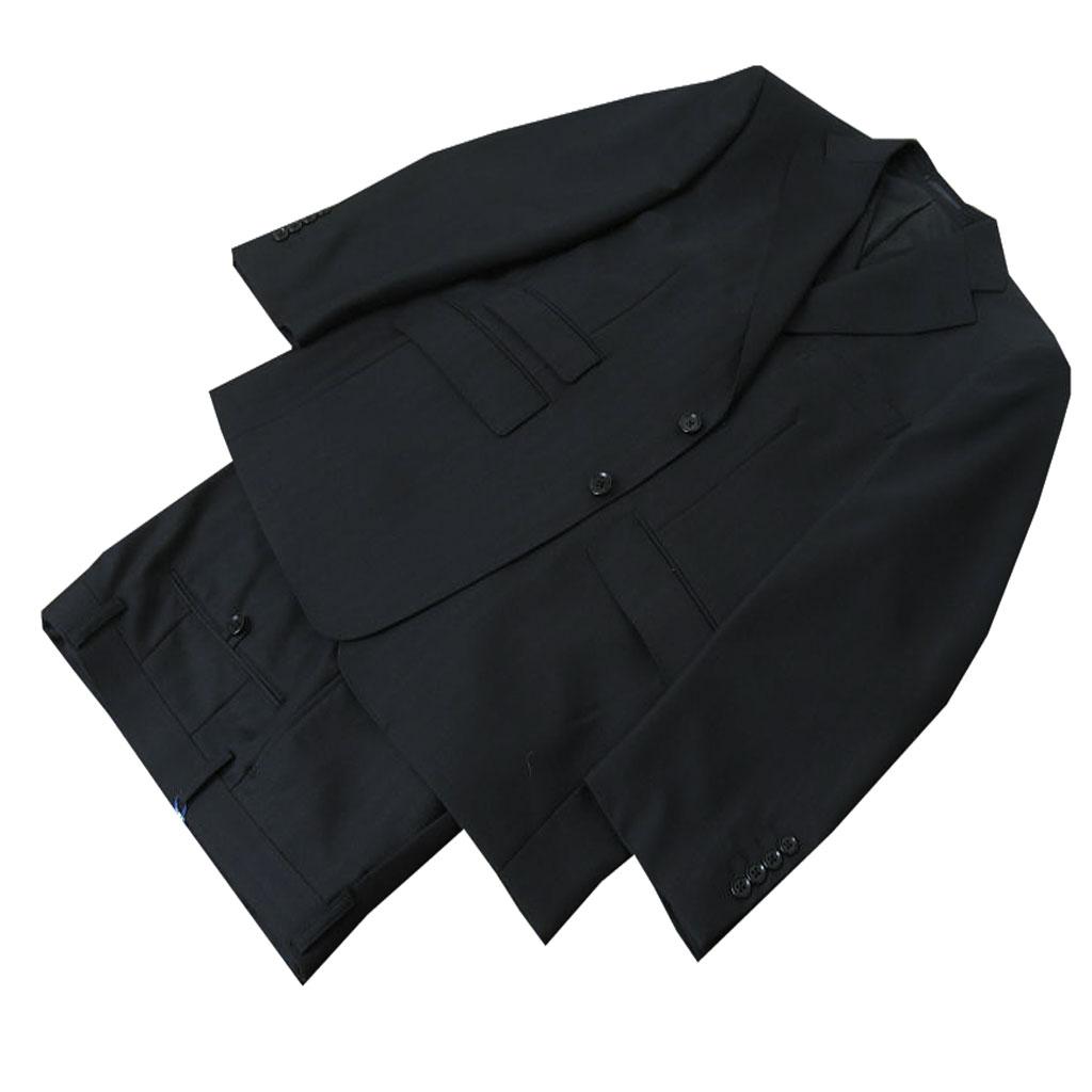 キングサイズ OXFORD CLASSIC 春夏秋 スリーピース 黒 シャドーヘリンボーン 6009  E4
