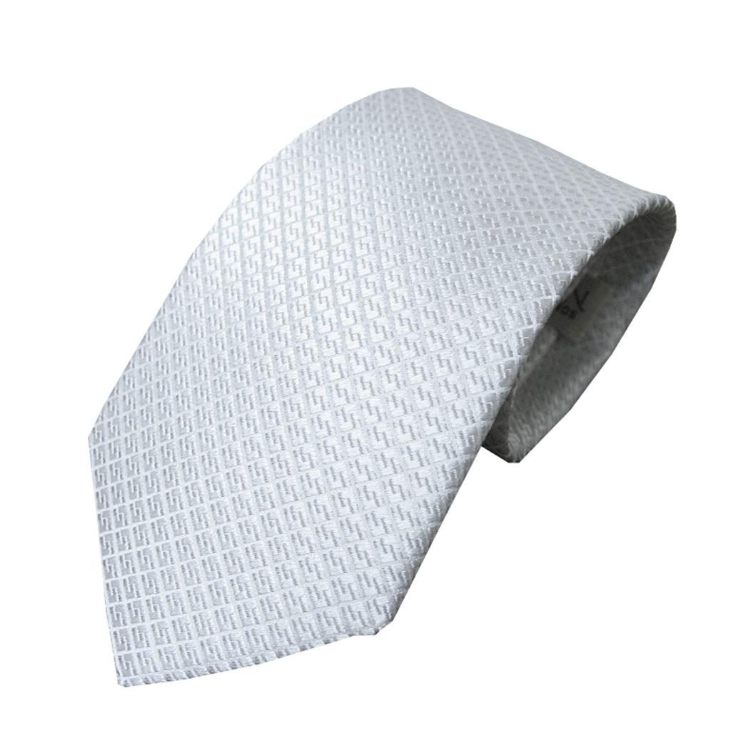 NEW FORMAL礼装用ネクタイ シルバーグレー シルク100% NF05