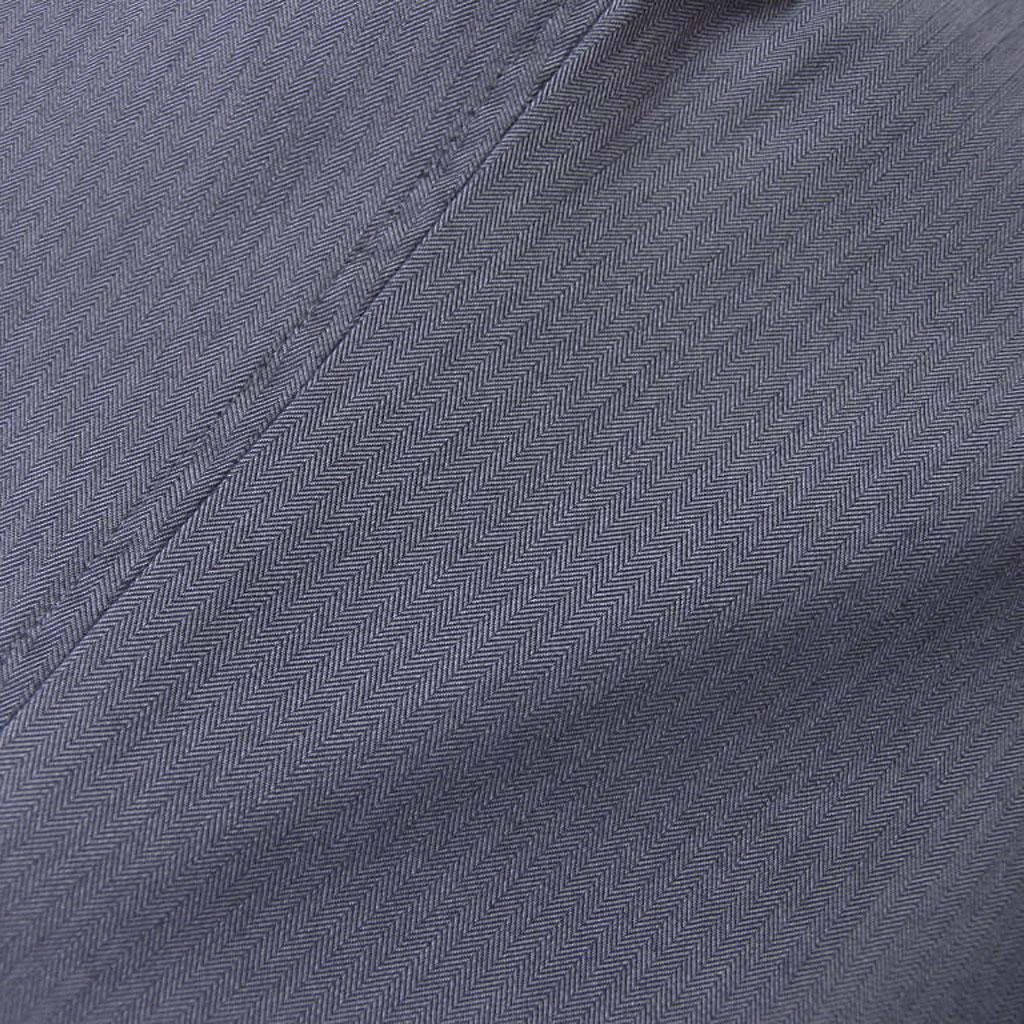 春夏 パンツ 青 ヘリンボーン ノータック 【ウォッシャブル】【洗える】【綿混】【ストレッチ】 メンズ カジュアル Dady Costa 9613  78cm 82cm