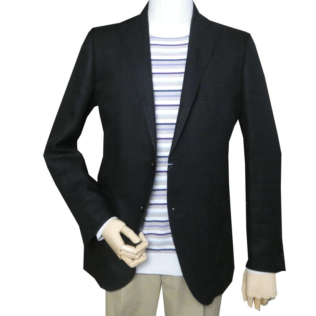 OXFORD CLASSIC PremiumLine(オックスフォードクラシックプレミアムライン) ブラックジャケット メンズ  春夏 麻100% ヘリンボーン 黒 2709 A4 A5 A6 AB4 AB5 AB6  BB3 BB5 BB6 BB7