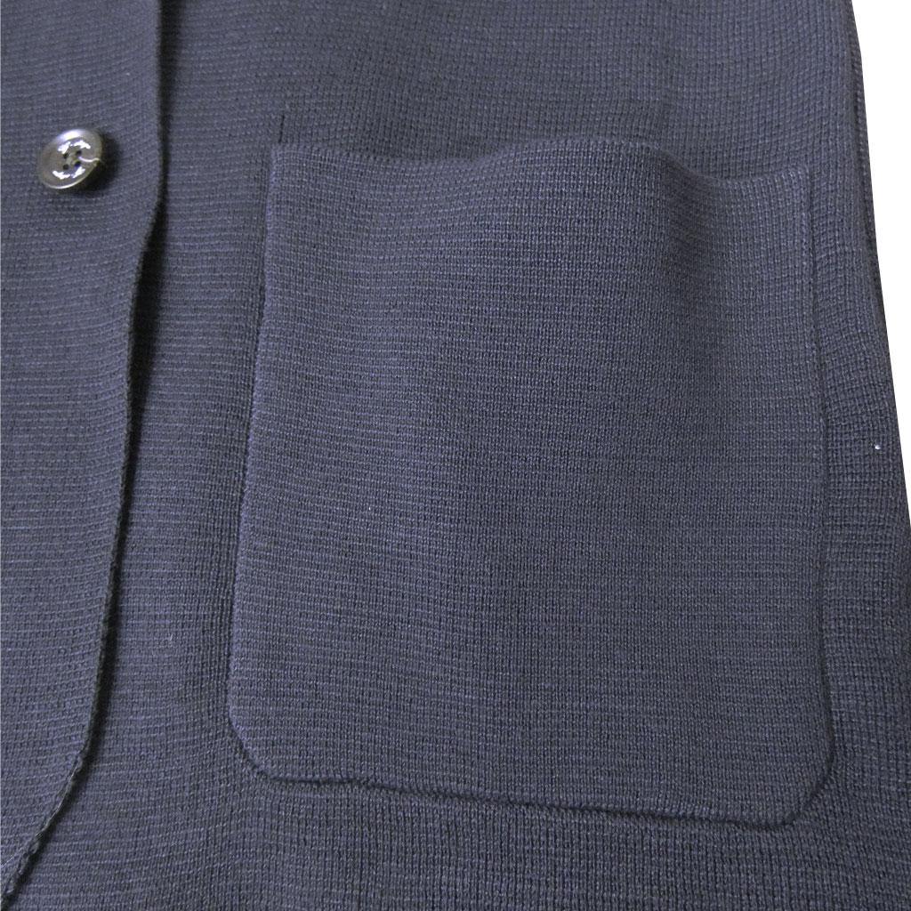 G-stageのミラノリブ 春夏ニットジャケット メンズ ネイビー 5010 M L