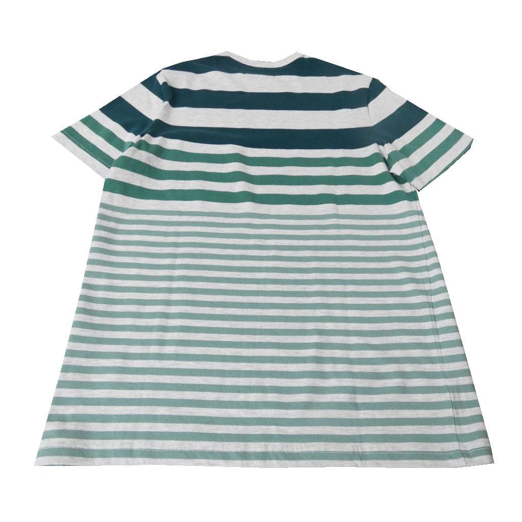 stanley blacker(スタンリーブラッカー) Tシャツ メンズ 春夏 ボーダー グリーン 1172 M L