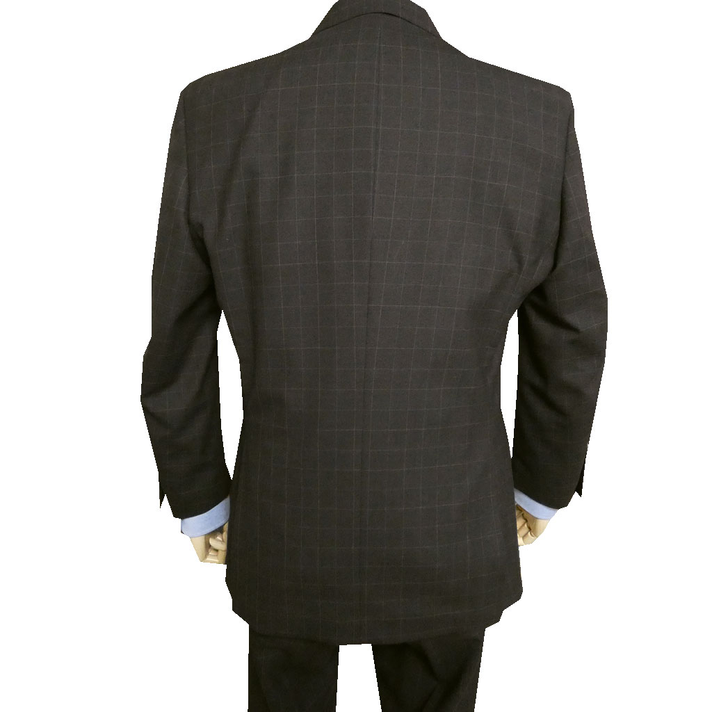 OXFORD CLASSIC(オックスフォードクラシック) 3ピーススーツ メンズ 春夏秋 オーバーペンチェック 英国調 ダークブラウン 0058 A3 A4 A5 A6 A7 AB4 AB7 AB8 BB4 BB5