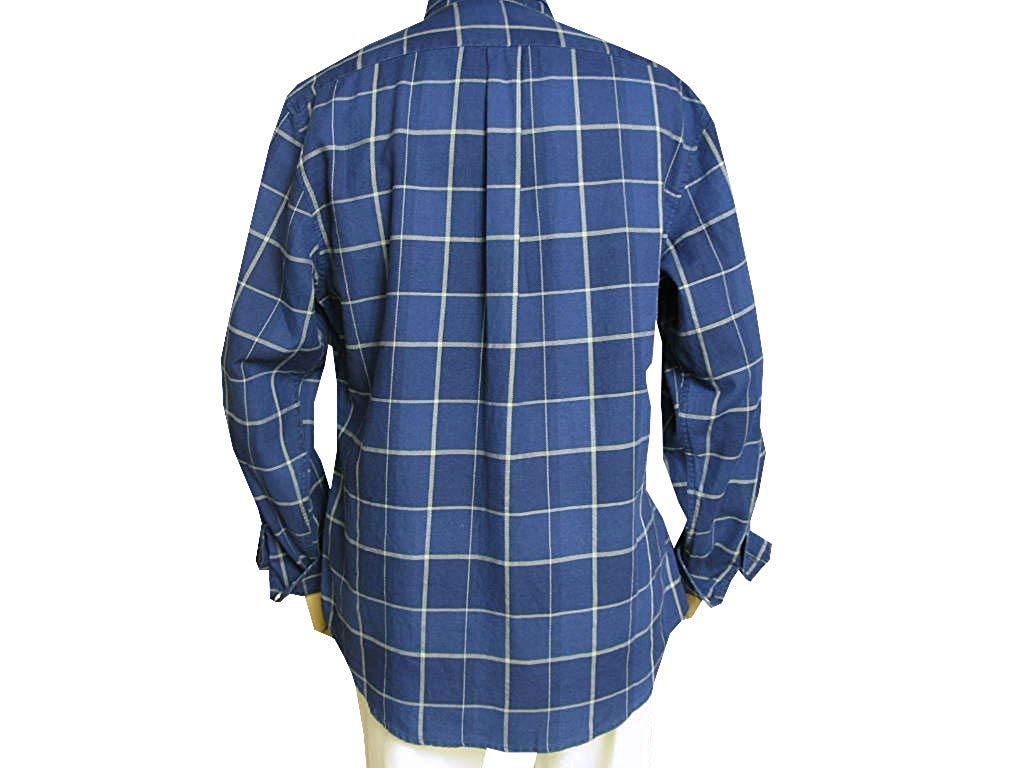 stanley blackerの長袖シャツ ボタンダウン 紺系 1088  M