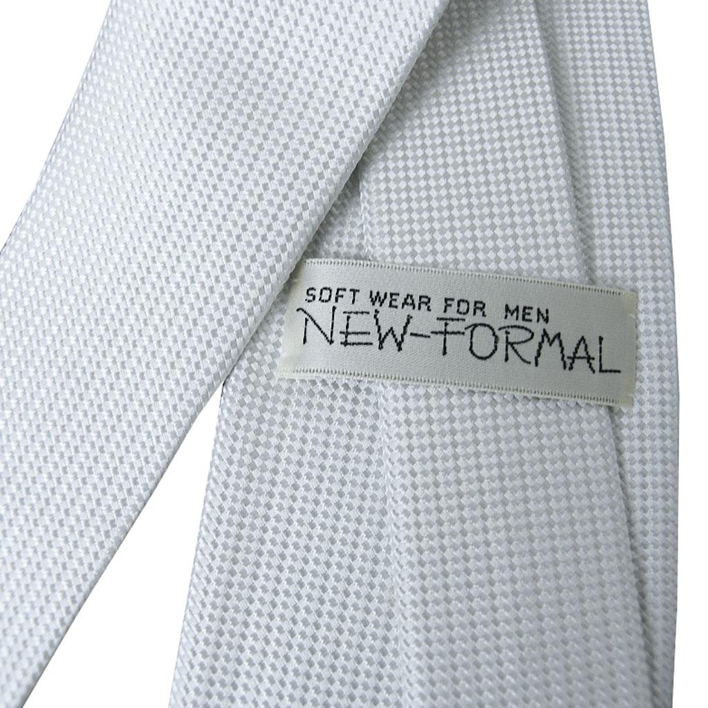 NEW FORMAL礼装用ネクタイ シルバーグレー シルク100% NF12