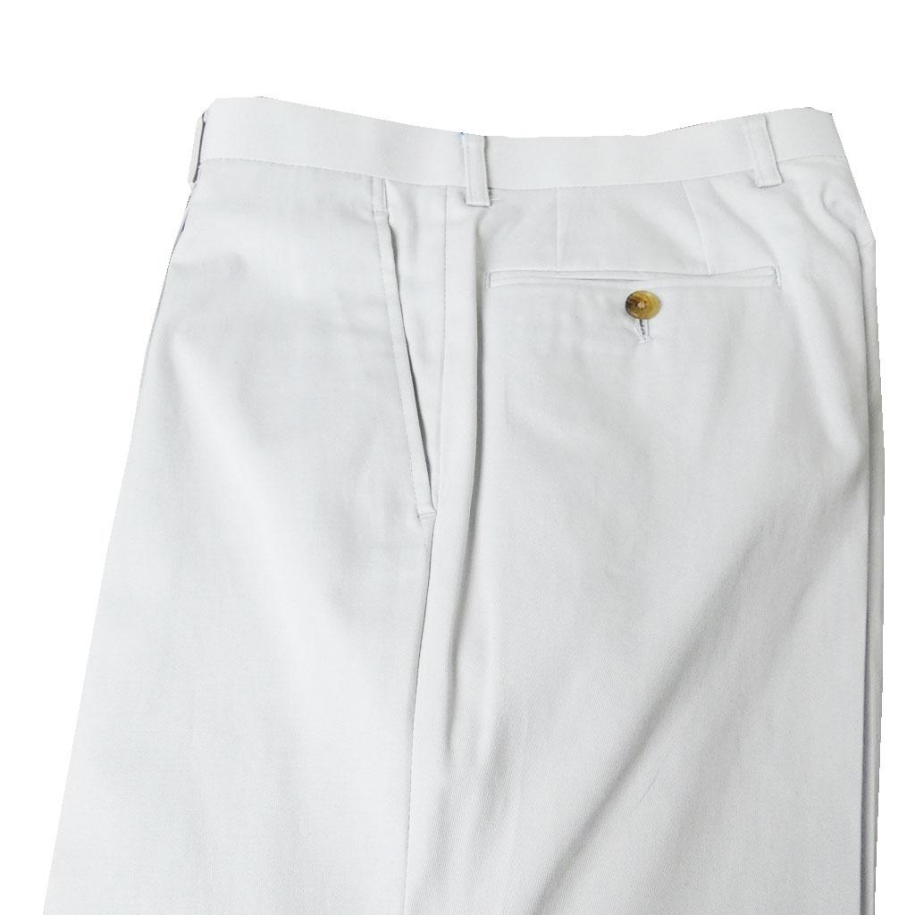 春夏 コットンパンツ スモークホワイト 7002 ワンタック メンズ ビジネス OXFORD CLASSIC   80cm 86cm 98cm