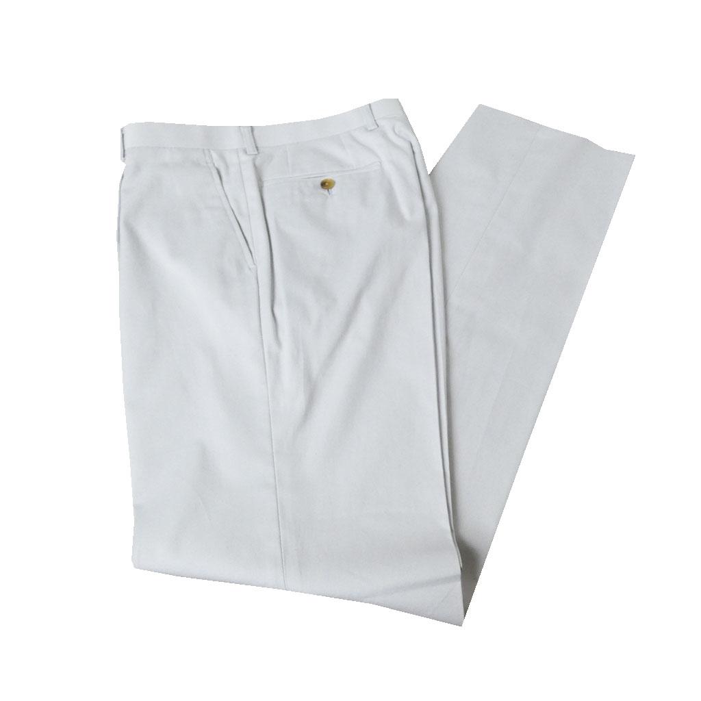 春夏 コットンパンツ スモークホワイト 7002 ワンタック メンズ ビジネス OXFORD CLASSIC   80cm 86cm 90cm 98cm