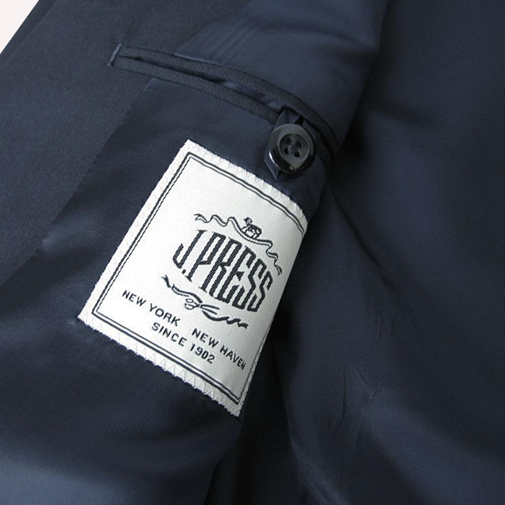 Jプレス(J.PRESS)のメンズ 秋冬春段返り3ツボタン 紺ブレザー 銀ボタン 075 A7