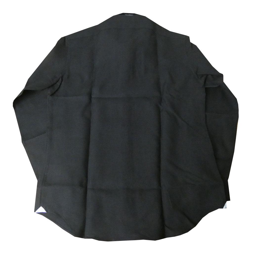 GALLIPOLI camiceria(ガリポリカミチェリア) 長袖シャツ メンズ ホリゾンタルカラー 麻100% ブラック 0011 M L