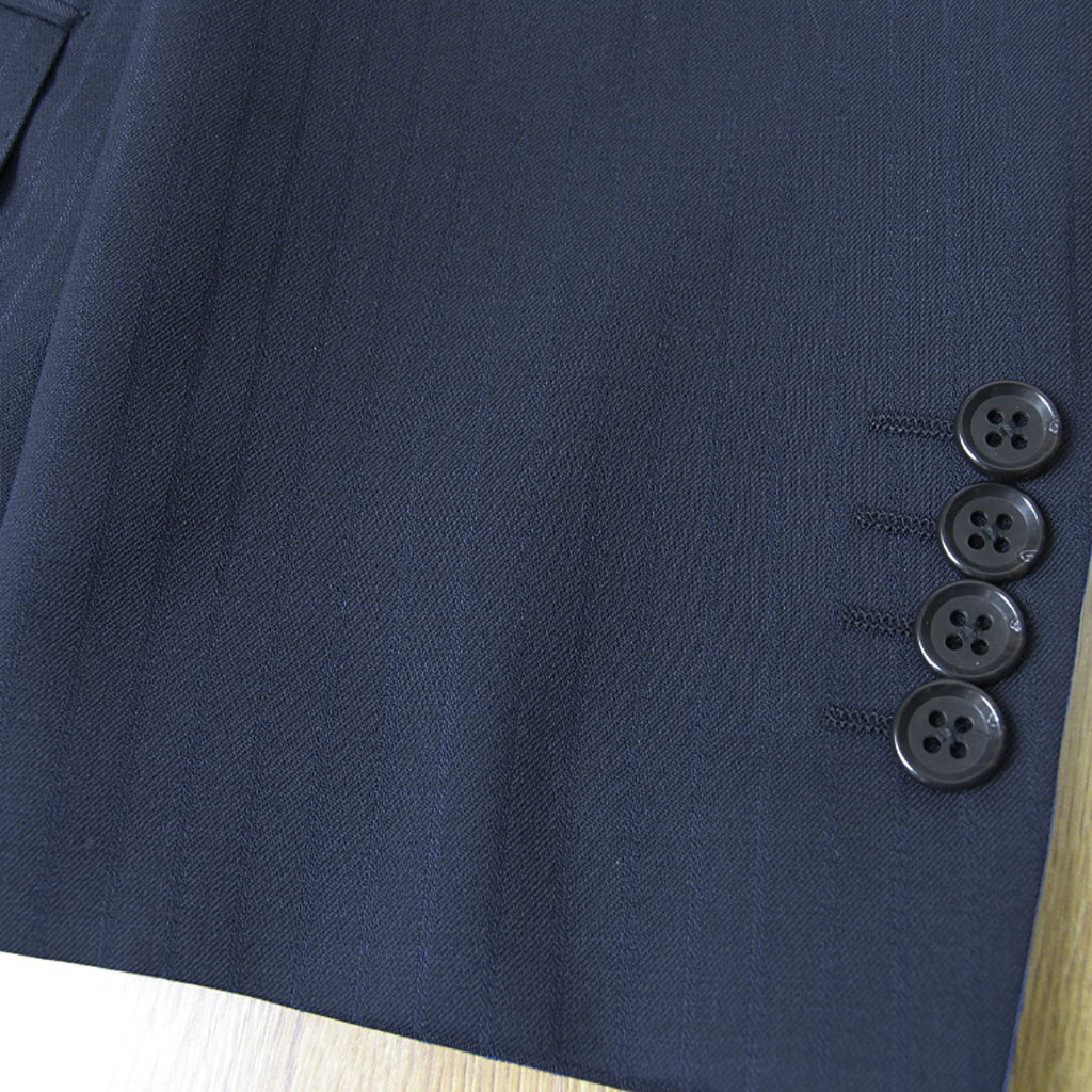 OXFORD CLASSIC 春夏秋 段返り3つボタン ツーパンツスーツ ネイビー シャドーストライプ  0688 A3 A4 A6 A7 A8 AB3 AB8 BB4 BB5 BB6 BB7