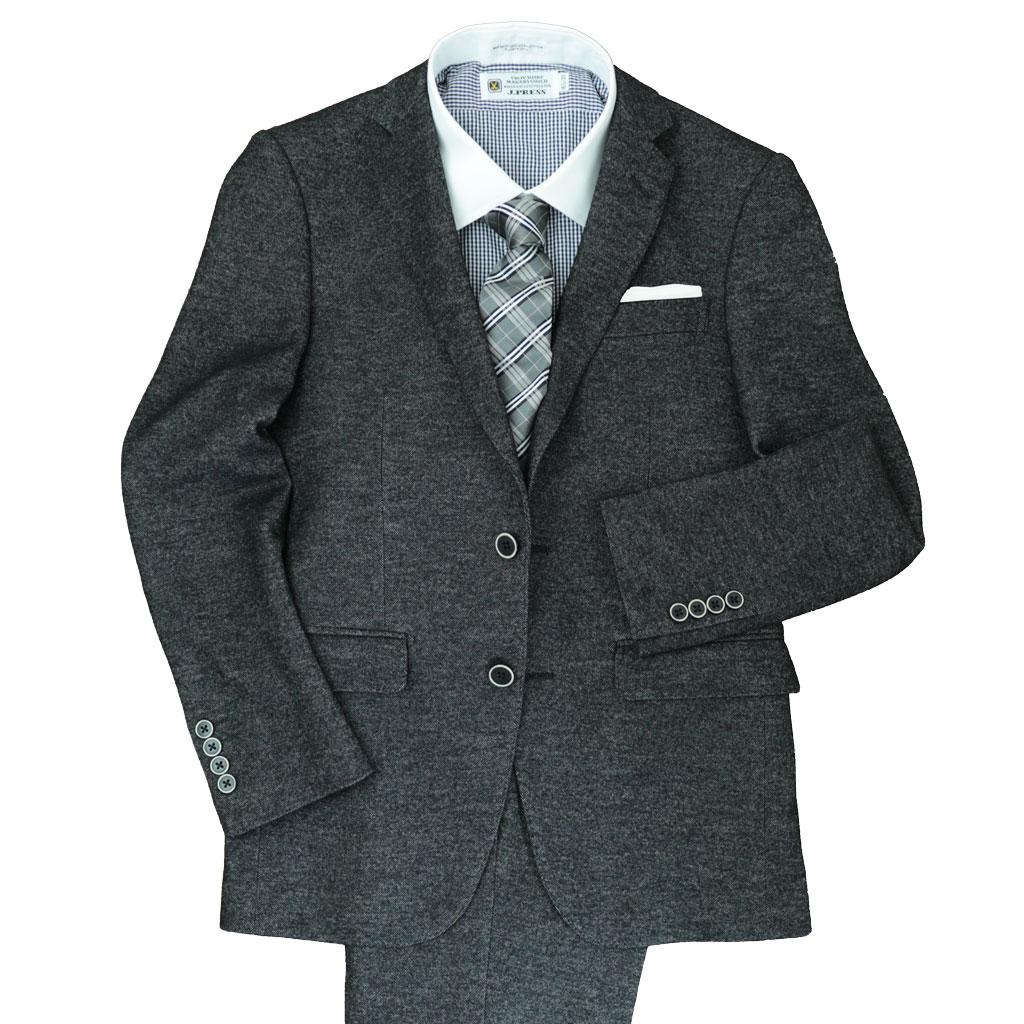 Dady Costaの秋冬春 2つボタン スーツ ブラック ジャージー生地 1023  Y6