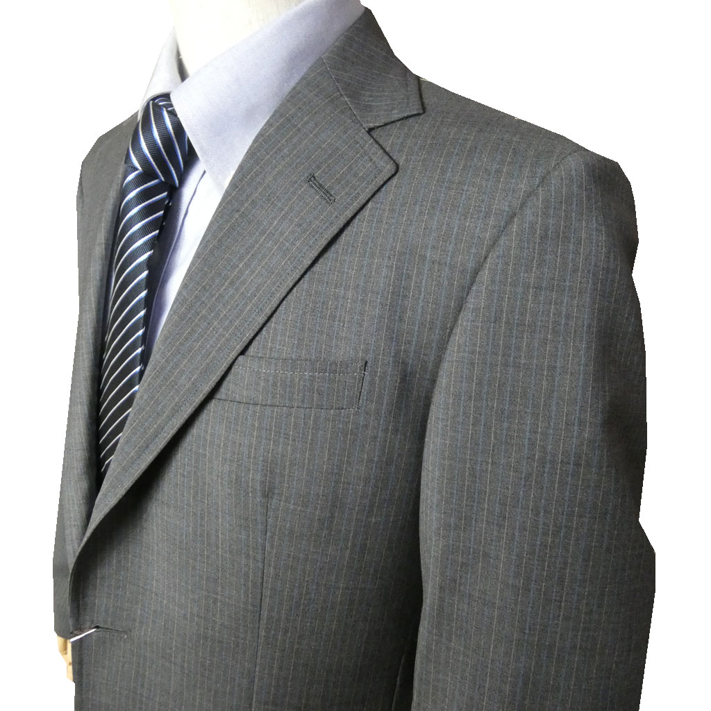 OXFORD CLASSIC PremiumLine 春夏 段返り3つボタン スーツ REDA ミディアムグレーストライプ 0718 A3 A4 A5 A6 A7 A8 AB3 AB4 AB5 AB6 AB7 BB4 BB5 BB6 BB8