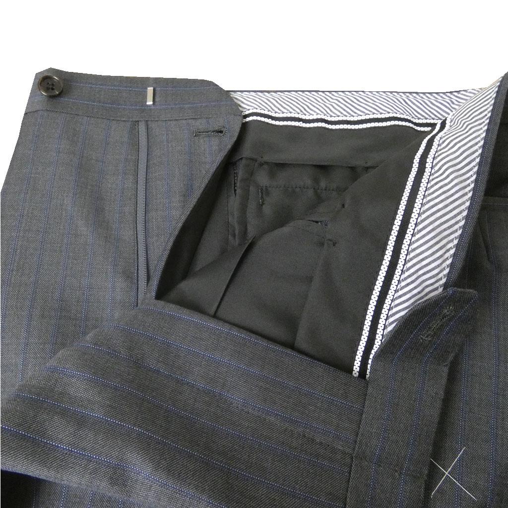 Ermenegildo Zegna(エルメネジルド ゼニア) スーツ メンズ 秋冬春 2つボタン シングルスーツ グレー系 ストライプ 0322 AB4 AB5 AB6 AB7 AB8