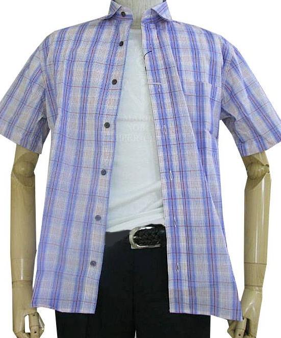GE-STYLEのメンズ 半袖 レギュラーカラー シャツ 988  M(衿39cm)