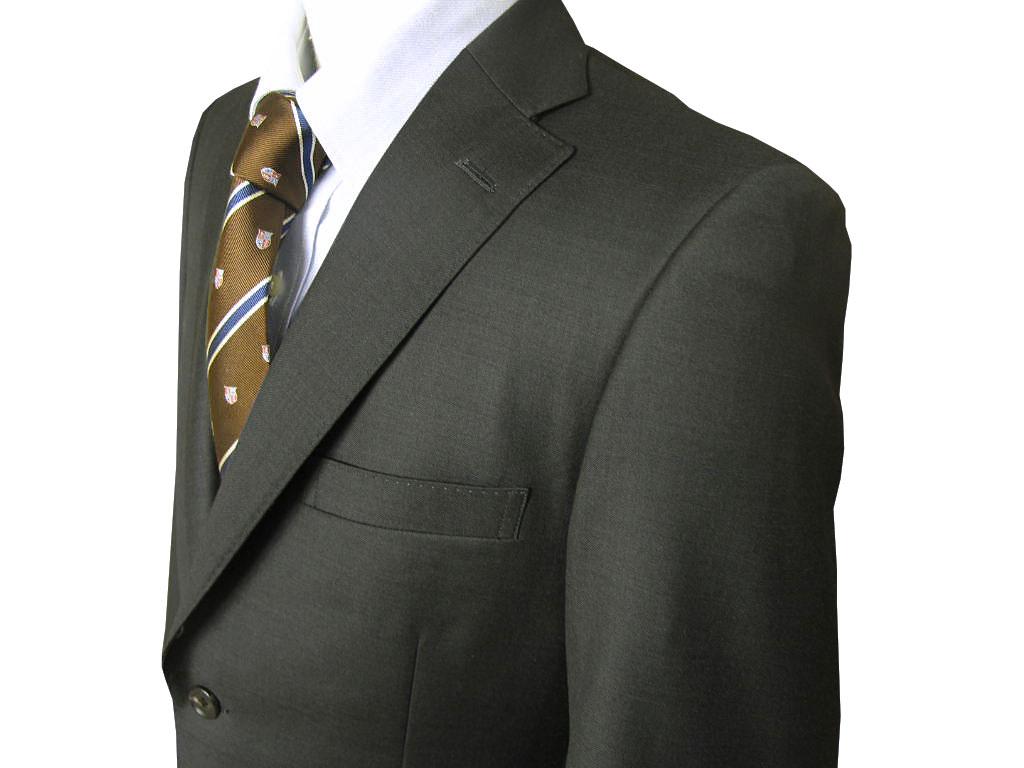 Ermenegildo Zegna(エルメネジルド ゼニア) スーツ メンズ 秋冬春 2つボタン シングルスーツ チャコールグレー 無地 0223 AB4 AB6 AB8 BB8