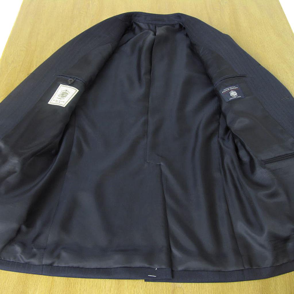 J.PRESS(Jプレス) スーツ メンズ 秋冬春 段返り3つボタン ネイビー シャドーストライプ 175 A4