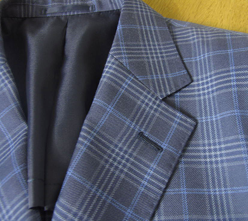 春夏 ジャケット ブルー系 ファンシーチェック 2つボタン 【ウール混】 メンズ ブレザー 青 アルヴァンテ・ウォモ(albante uomo) 0988 A6 A8