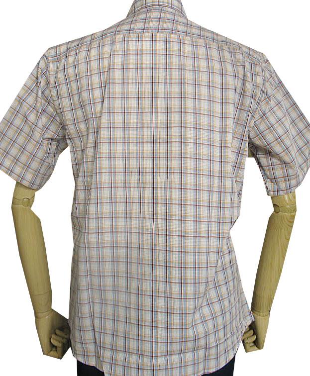 GE-STYLEのメンズ 半袖 レギュラーカラー シャツ 8987  M(衿39cm) L(衿41cm)