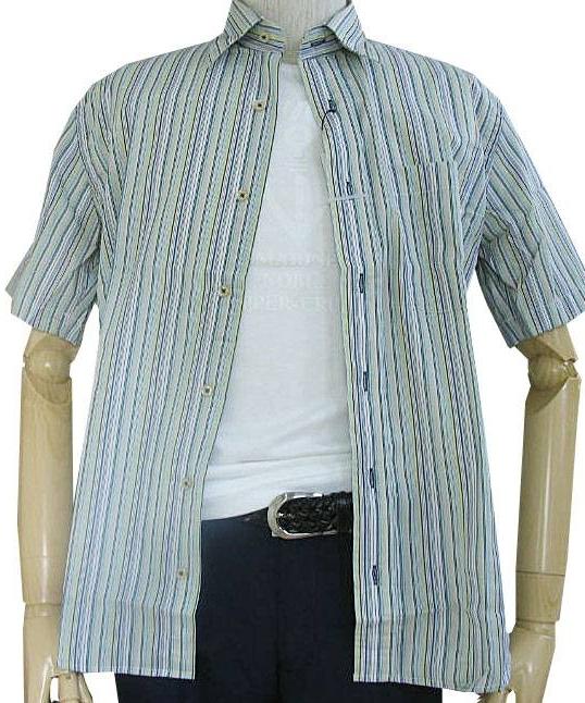 GE-STYLEのメンズ 半袖 レギュラーカラー シャツ 977  M(衿39cm)