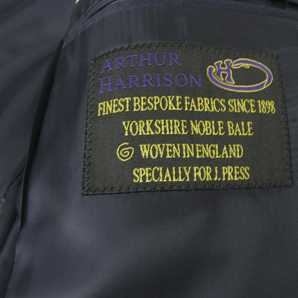 J.PRESS メンズ 秋冬春 2つボタンスーツ アーサーハリソン ネイビー ストライプ 175  A6