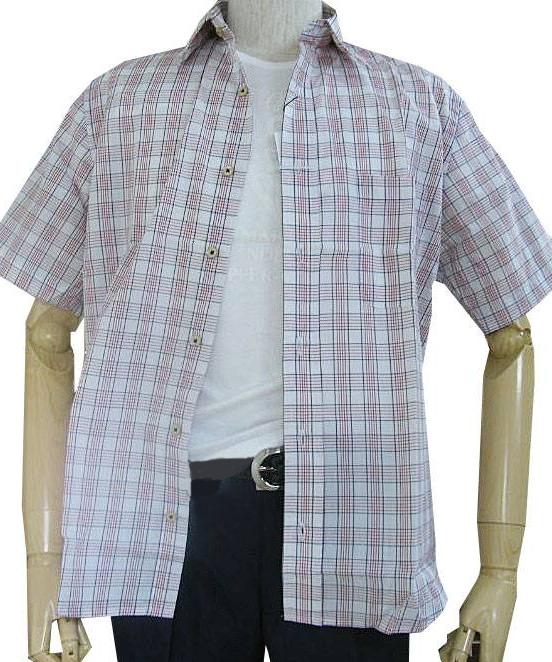 GE-STYLEのメンズ 半袖 レギュラーカラー シャツ 8989  M(衿39cm)