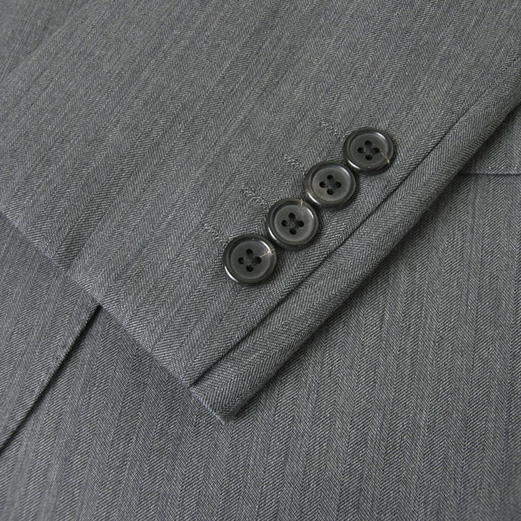 J.PRESS(Jプレス) メンズ 秋冬春 2つボタンスーツ ミディアムグレーヘリンボーン 003  A6 AB6