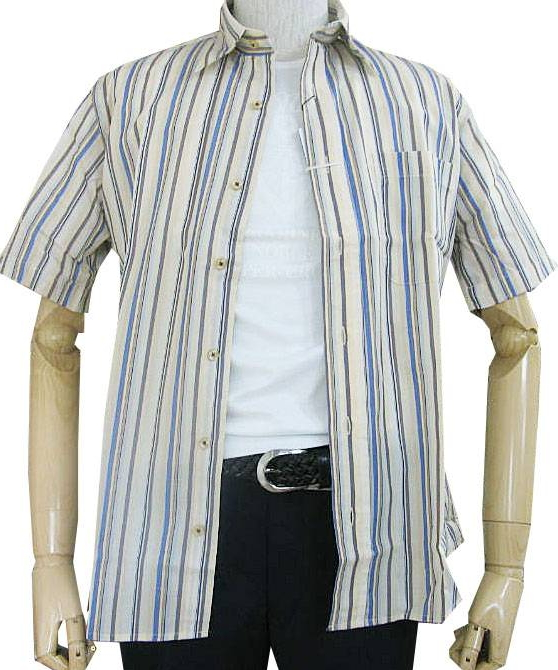 GE-STYLEのメンズ 半袖 レギュラーカラー シャツ 80  M(衿39cm)