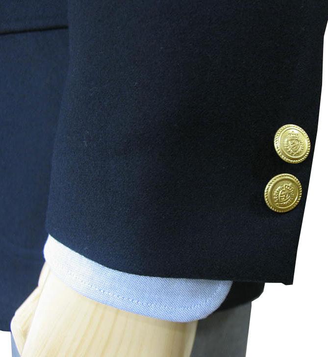 キングサイズ 秋冬 紺ブレザー フラノブレザー ネイビー 段返り3つボタン 金ボタン メンズ ジャケット OXFORD CLASSIC PremiumLine 0188  E4 E5 E6 E7 E8