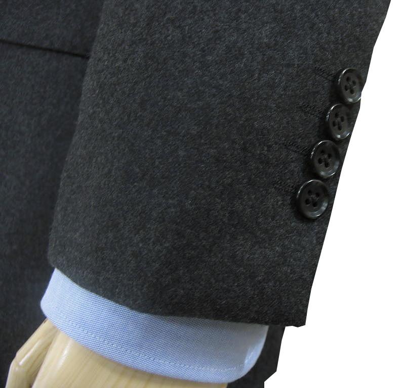 秋冬 スリーピース チャコールグレー フランネル 英国調 3つボタン【ベスト抜き可】 メンズ ビジネス OXFORD CLASSIC 5218  A3 A4 A5 A6 A7 A8 AB3 AB4 AB5 AB6 AB7 AB8  BB4 BB5 BB6 BB7 BB8