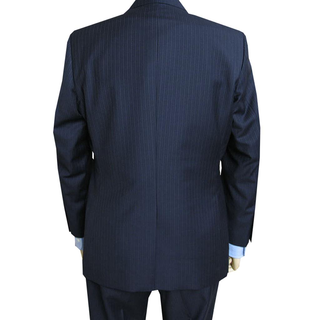 Ermenegildo Zegna(エルメネジルド ゼニア) スーツ メンズ 秋冬春 シングルスーツ ストライプ 紺 0113 AB5 BB3 BB4