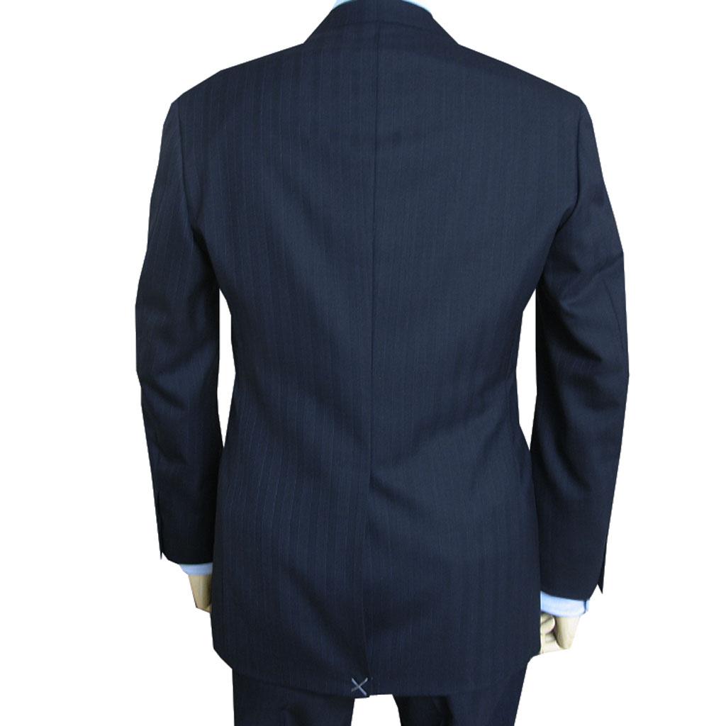 J.PRESS(ジェイプレス) スーツ メンズ 秋冬春 2つボタン ストライプ ネイビー 175  A6 AB5 AB6 AB7