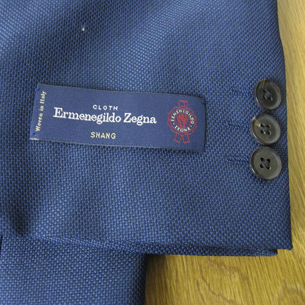 Ermenegildo Zegna(エルメネジルド ゼニア) ジャケット メンズ 春夏 2つボタン 紺 ネイビー 42588  BB5
