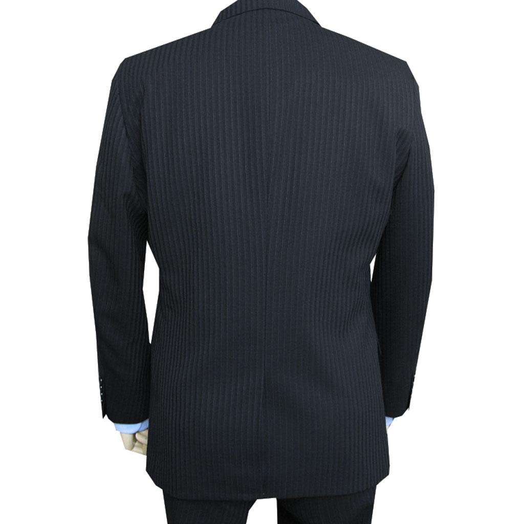 秋冬春スーツ 黒 ストライプ 2つボタン メンズ Dady Costa 0003  AB4 AB6 AB8 BB4 BB5