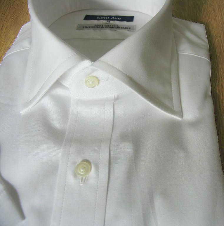 Kent Ave(ケントアベニュー) ワイドカラーシャツ ワイシャツ メンズ 春夏 半袖 ホワイト 2718 S M L LL