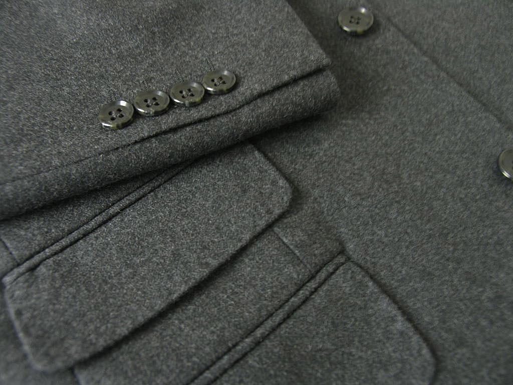 OXFORD CLASSIC スリーピース メンズ 秋冬 フランネル 英国調 3つボタン チェンジポケット付 ウール100% ベスト抜き可 チャコールグレー キングサイズ 5218 E4 E5 E6 E7 E8