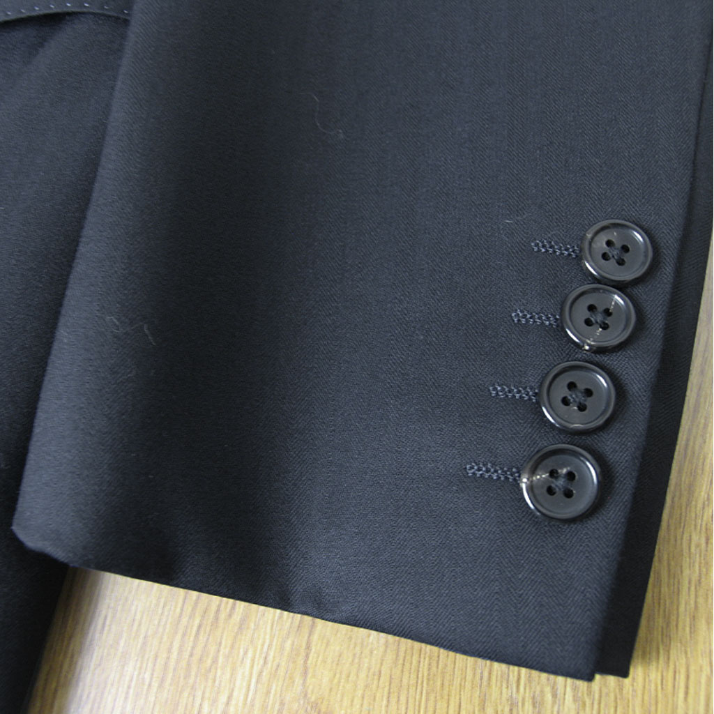 J.PRESS(ジェイプレス) スーツ メンズ 秋冬春 2つボタン ネイビー シャドーヘリンボーン 175 A5