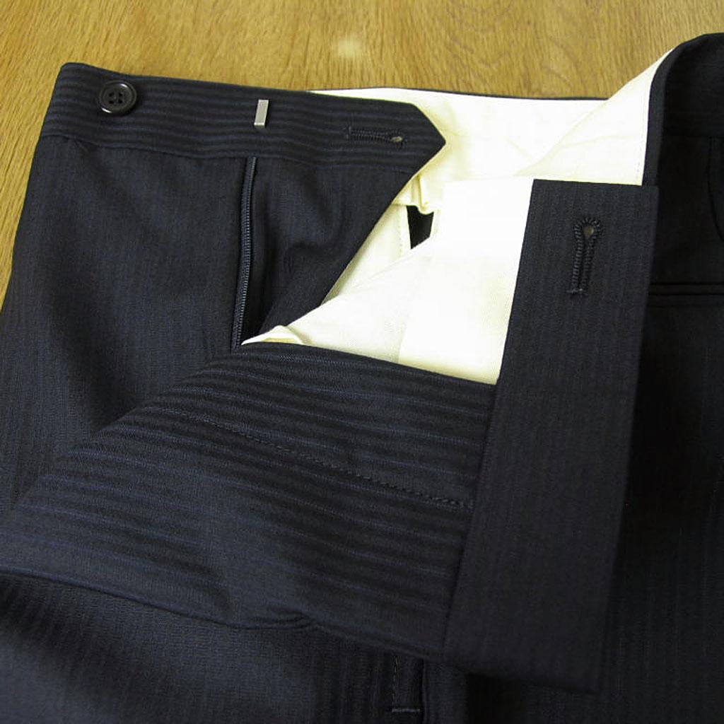 J.PRESS(ジェイプレス) 2パンツスーツ メンズ 春夏 2つボタン ネイビー ストライプ 紺 175 A5 A7