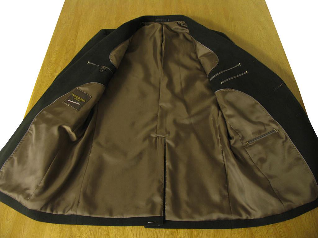 秋冬 コットンスーツ モールスキン ブラック 段返り3つボタン OXFORD CLASSIC PremiumLine 2809 A7