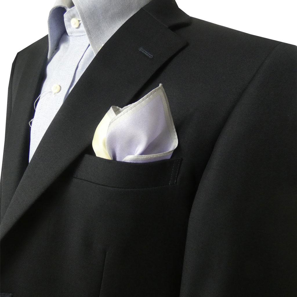 ポケットチーフ メンズ フォーマル用 6色  cf201 メール便送料無料