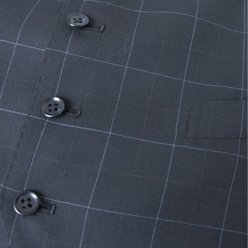 OXFORD CLASSIC(オックスフォードクラシック) オッドベスト ジレ メンズ 春夏秋 ネイビー オーバーペンチェック 紺 0088 BB5