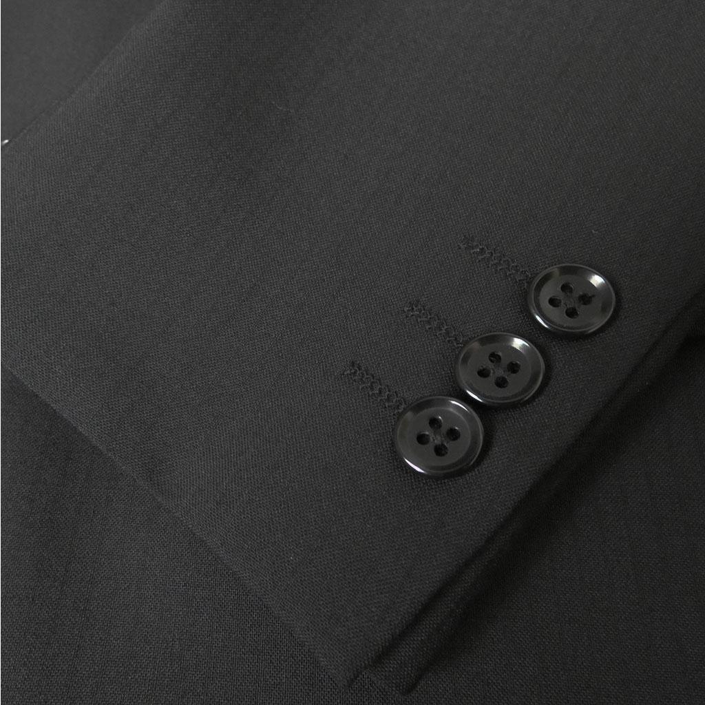 COOLMAX生地 メンズ 春夏秋 シングル2つボタンスーツ 黒 シャドーストライプ 5609  A4 A7 A8 AB4
