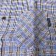 stanley blacker(スタンリーブラッカー) ボタンダウンシャツ 半袖シャツ メンズ 春夏 チェック ブルー系 0685 M L