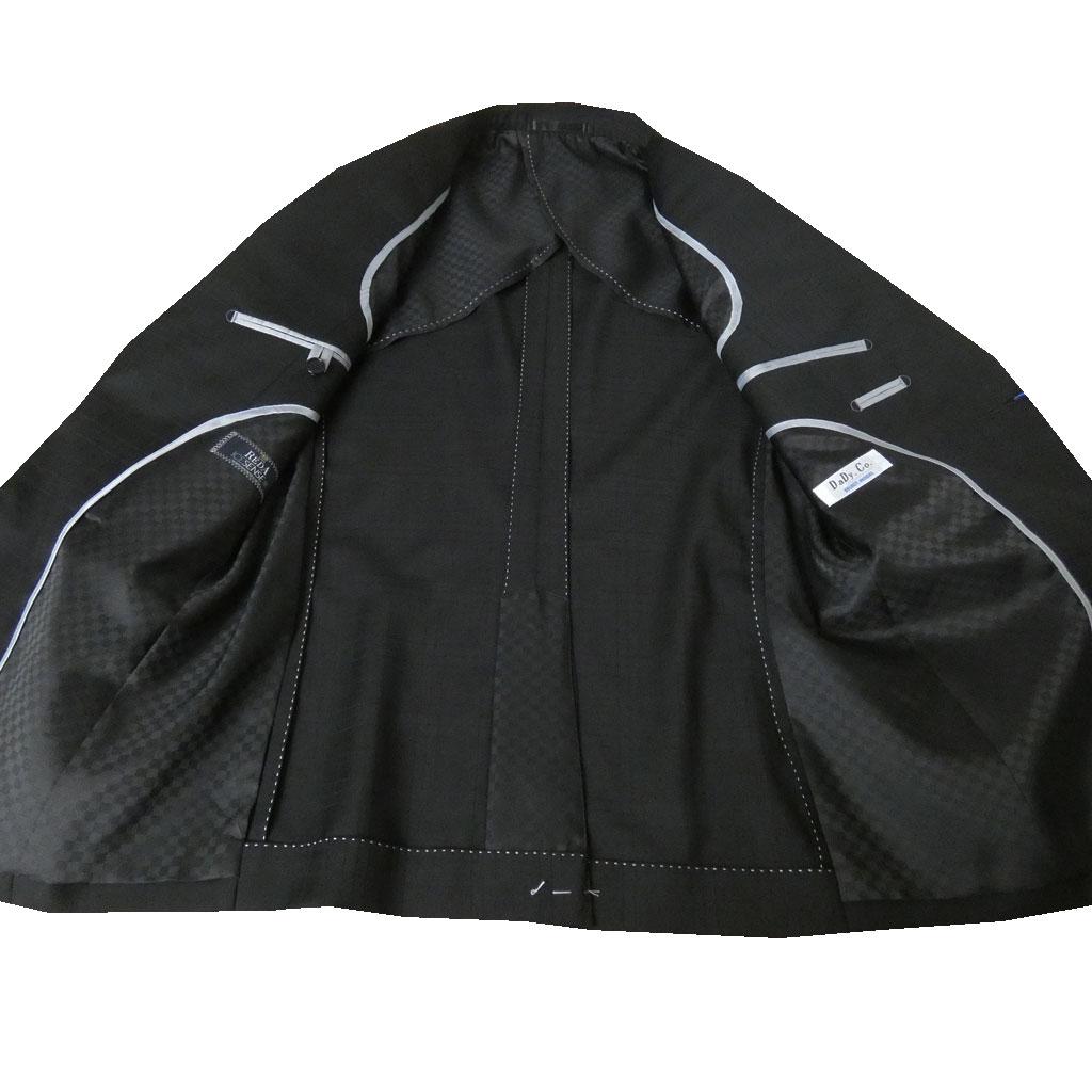 REDA(レダ) スーツ 春夏 2つボタン シャドーチェック ブラック 7210 A3 A4 A5