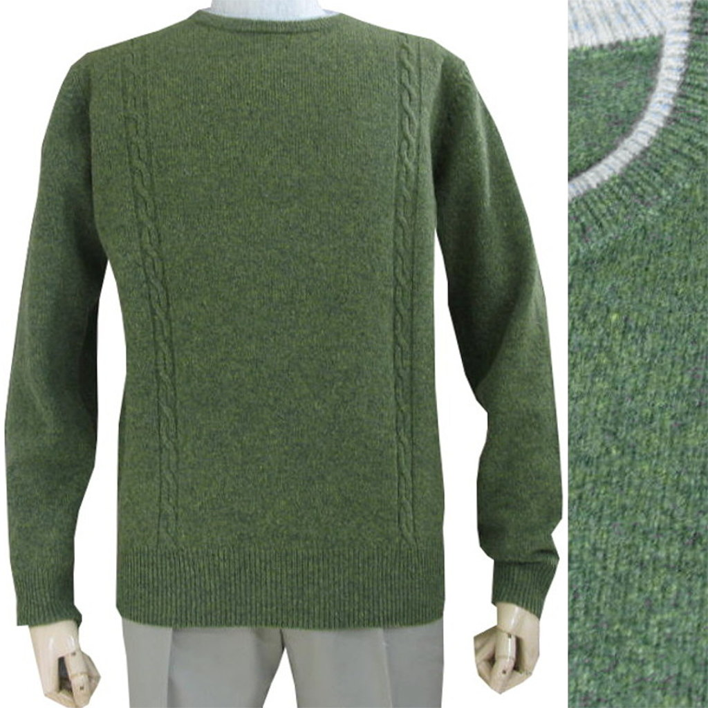 FIDATOのクルーネックセーター カーキ系 1216 M
