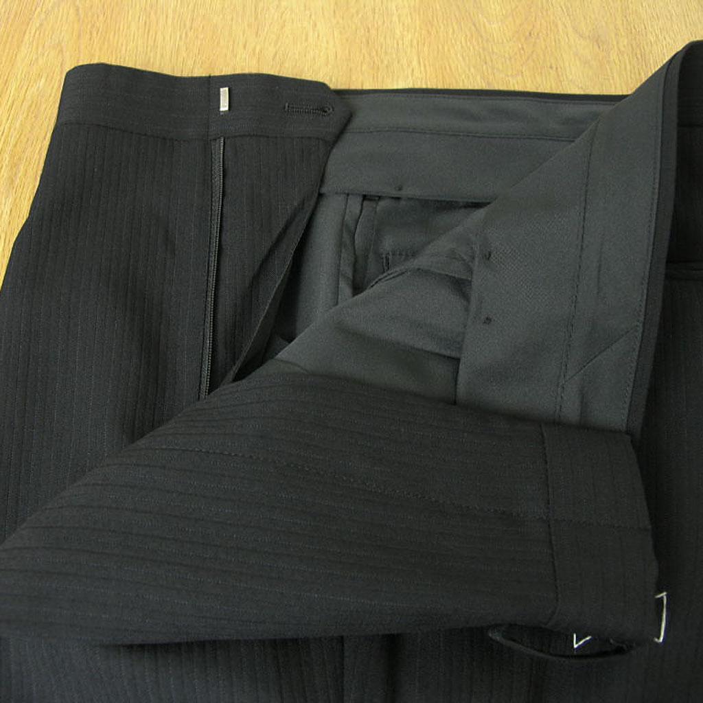 OXFORD CLASSIC 秋冬春 段返り3つボタン スリーピース 黒シャドーストライプ チェンジポケット付き メンズ ビジネス 1409  A3 A4 A7 A8 AB8