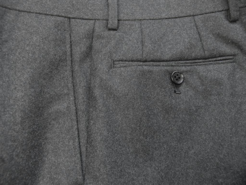 秋冬 フランネル パンツ チャコールグレー 【ウール100%】 メンズ ビジネス OXFORD CLASSIC 5218  76cm 78cm 86cm 90cm 92cm 94cm 96cm 98cm 100cm 102cm 104cm 106cm